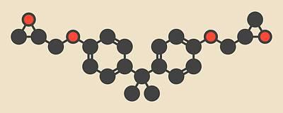 Bisphenol Molecule Poster by Molekuul