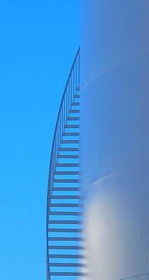 Blue Stairs Poster by John King