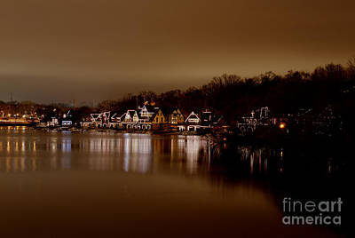 Boathouse Row Poster by Mark Ayzenberg