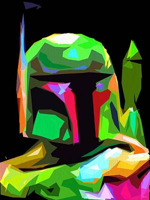 Boba Fett Star Wars Poster by Daniel Janda