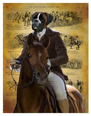 Boxer Art Canvas Print Poster
