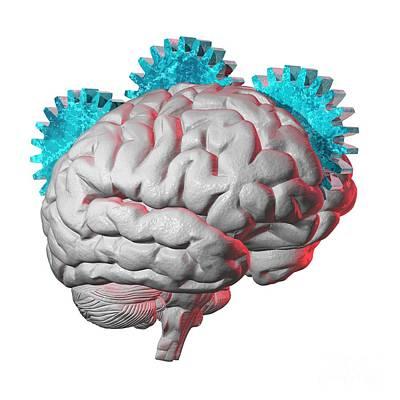 Brain Function, Conceptual Artwork Poster by Laguna Design