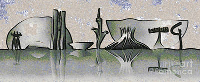 Brasilia Skyline Poster by Michal Boubin