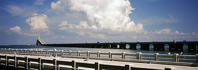 Bridge Across A Bay, Sunshine Skyway Poster by Panoramic Images