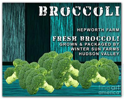 Broccoli Farm Poster by Marvin Blaine