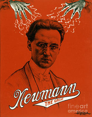 C.a. George Newmann, American Hypnotist Poster by Photo Researchers
