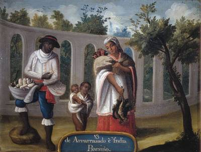 Cabrera, Miguel 1695-1768. Mixed Races Poster by Everett