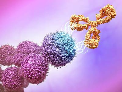 Cancer Drug Attacking Cancer Cells Poster by Maurizio De Angelis