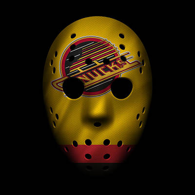 Canucks Jersey Mask Poster by Joe Hamilton
