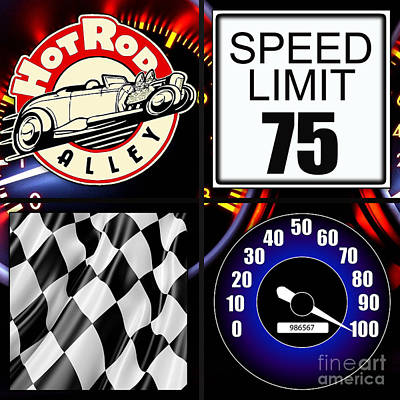 Speed Demon Art For Boys And Men Poster by Marvin Blaine