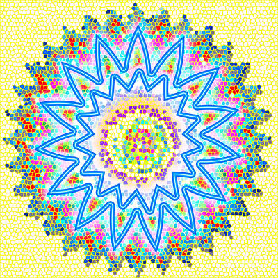 Colorful Signature Art Chakra Round Mandala By Navinjoshi At Fineartamerica.com Rare Fineart Images  Poster by Navin Joshi
