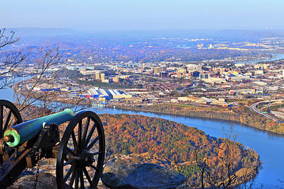 Chattanooga In Autumn Poster by Melinda Fawver