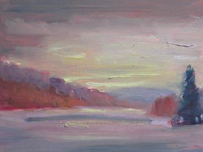 Cheshire Lake Poster by Len Stomski