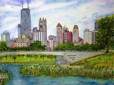 Chicago Skyline Poster by Janet Immordino