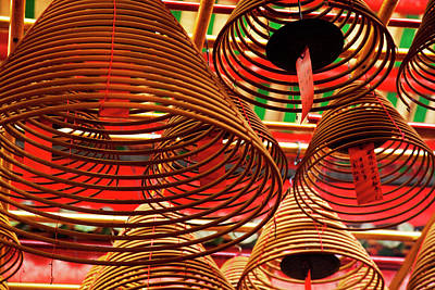 China, Hong Kong, Spiral Incense Sticks Poster by Terry Eggers