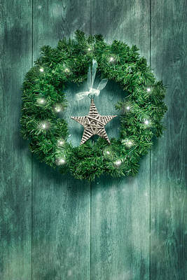 Christmas Garland Poster by Amanda Elwell