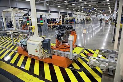 Chrysler Engine Factory Poster