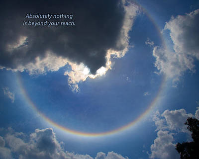 Poster featuring the photograph Circular Rainbow by David Coblitz