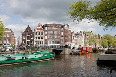City Of Amsterdam Cityscape Poster by Artur Bogacki