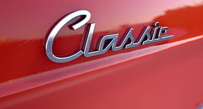 Classic Chrome Car Emblem Poster by Allan Swart