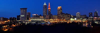 Cleveland Panorama Poster by Frozen in Time Fine Art Photography