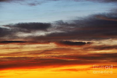 Cloudscape At Sunrise Poster by Sami Sarkis