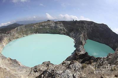 Colourful Crater Lakes Of Kelimutu Poster