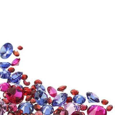 Colourful Gemstones Poster