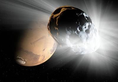 Comet Heading For Mars Poster
