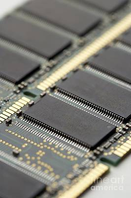 Computer Memory Chips Poster
