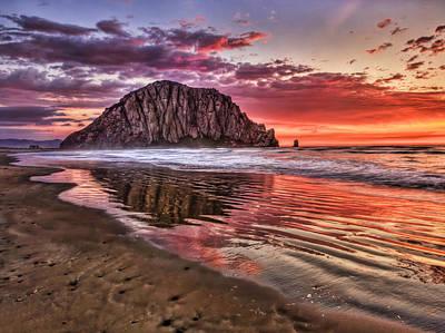 Crimson Sunset Poster