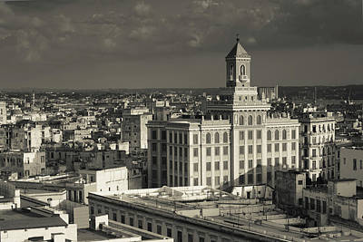 Cuba, Havana, Elevated View Poster by Walter Bibikow