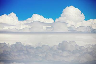 Cumulonimbus Cloud Seen From An Airplane Poster by Ashley Cooper