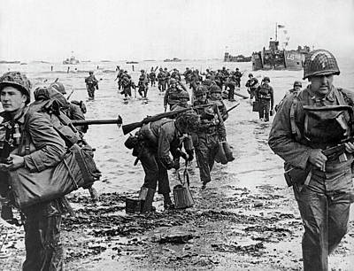 D-day Invasion Poster by Underwood Archives
