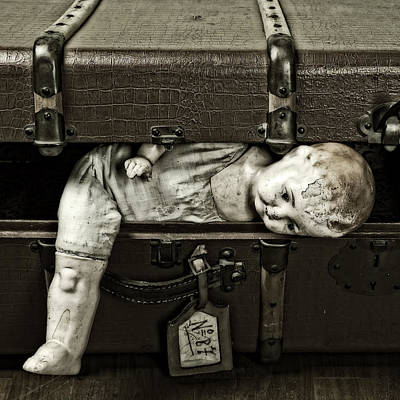 Doll In Suitcase Poster by Joana Kruse