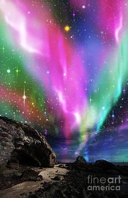 Dramatic Aurora Poster