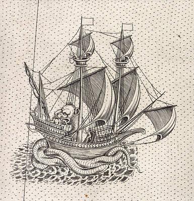 English Ship Poster