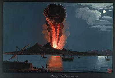 Eruption Of Mt. Vesuvius Poster by British Library