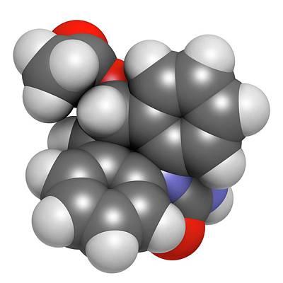 Eslicarbazepine Acetate Epilepsy Drug Poster by Molekuul