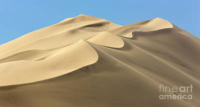 Eureka Dunes In Death Valley  Poster by Yva Momatiuk John Eastcott