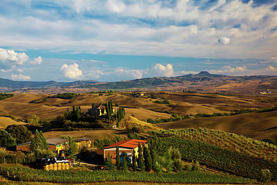 Europe, Italy, Tuscany, San Quirico Poster by Terry Eggers
