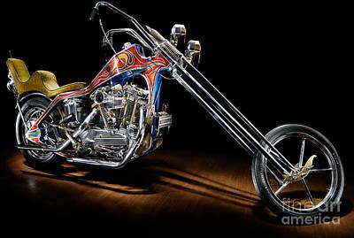 Evel Knievel Harley-davidson Chopper Poster by Frank Kletschkus