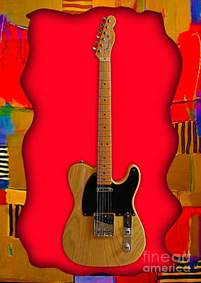 Fender Telecaster Collection Poster by Marvin Blaine