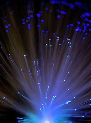 Fibre Optics Poster by Science Photo Library