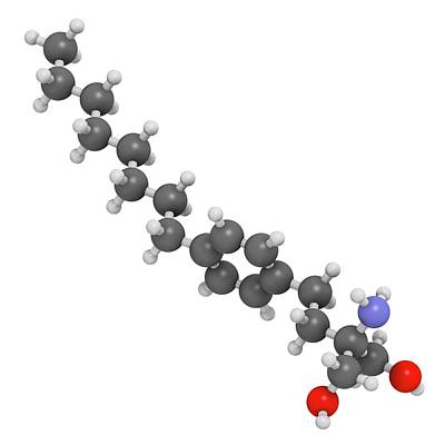 Fingolimod Multiple Sclerosis Drug Poster by Molekuul