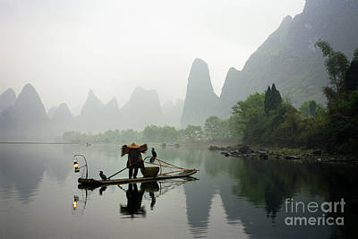 Fisherman In China Poster