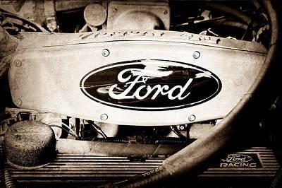 Ford Engine Emblem Poster