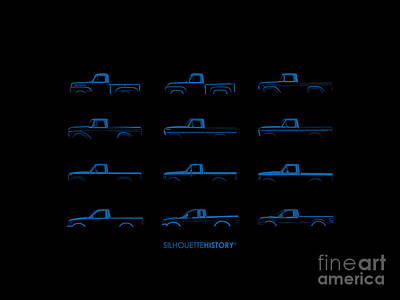 Ford F-series Silhouettehistory Poster
