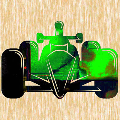 Formula One Race Car Poster by Marvin Blaine