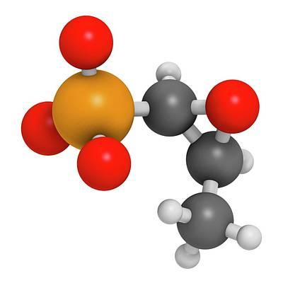 Fosfomycin Antibacterial Drug Molecule Poster by Molekuul
